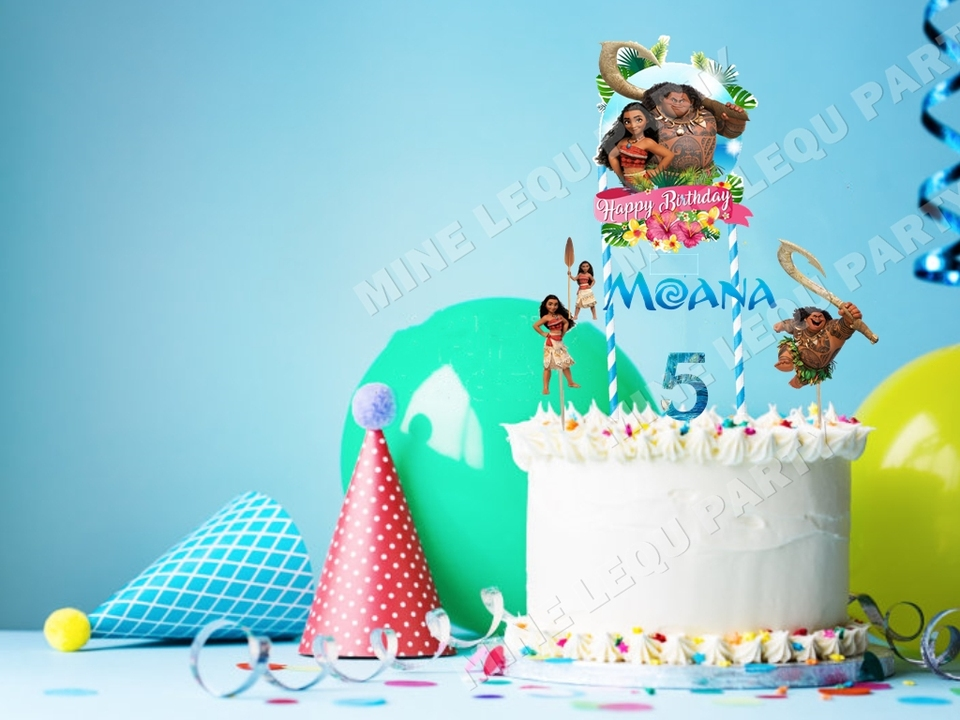 Moana Cake Topper Kids Birthday Party Baby Shower Decoration Supplies Party Diy Decorations Aliexpress