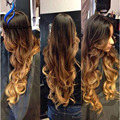 ALICROWN Ombre Lace Wig 10a Brazilian Glueless Full Lace Ombre Human Hair Wig Wavy Remy Human Hair Lace Front Wigs Black Women