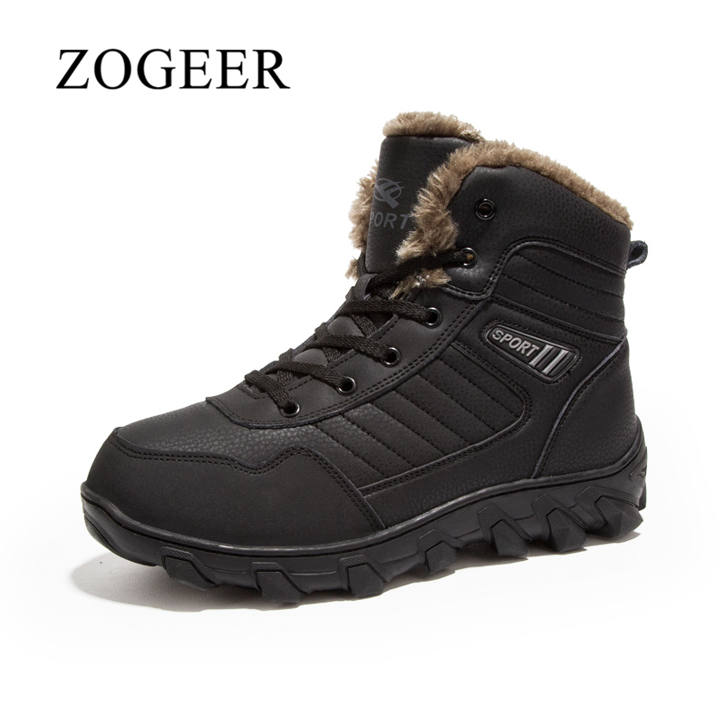 ZOGEER Winter Boots Men, Plush Warm Snow Boots Men, Fashion Mens Winter Footwear Man Shoes winter men