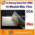 200pcs Free shipping OCA film for repair broken LCD touch screen for Samsung Galaxy note 3  oca laminator 175/250um