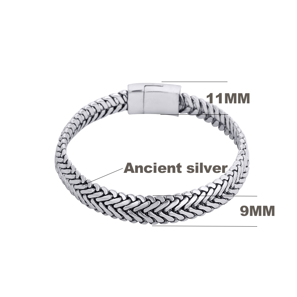 Ancient Silver Fashion Punk Buddha Bracelet for Women DIY Bangles Charms Bracelets Men Pulseira Jewelry Gifts B1019-16