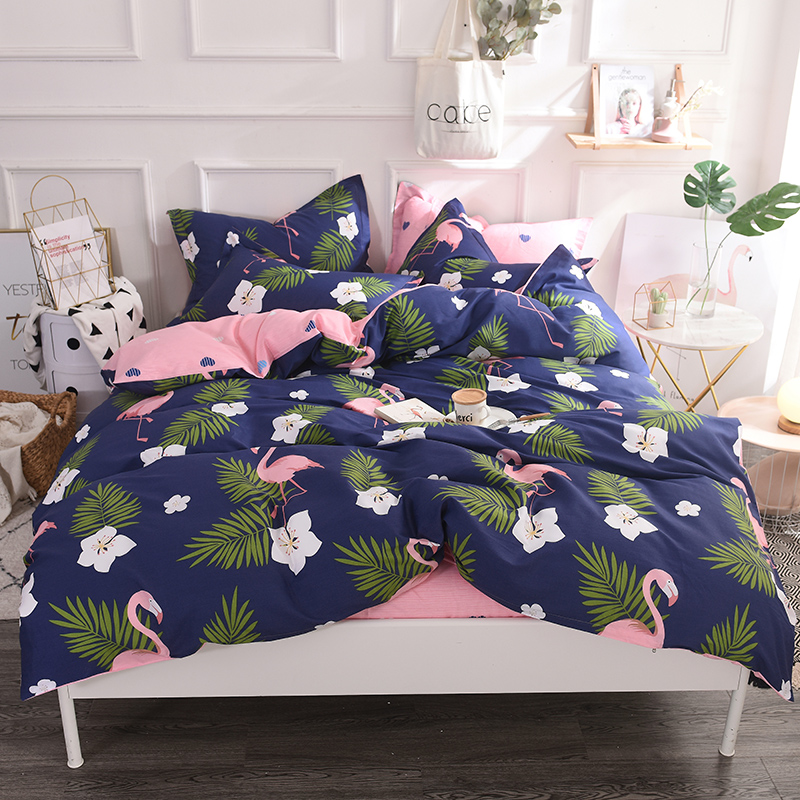 Home Textile Flamingo Cartoon Lovely Bedding Sets Duvet Cover Pillowcase Sheet Linen Full Queen King Size 3/4Pcs Cotton Soft Home Textile Flamingo Cartoon Lovely Bedding Sets Duvet Cover Pillowcase Sheet Linen Full Queen King Size 3/4Pcs Cotton Soft