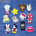 New arrive Animal Lovely Cartoon Brooches Pins Cute Minion Bear Mickey broche small mini Hello kitty acrylic enamel lapel batman