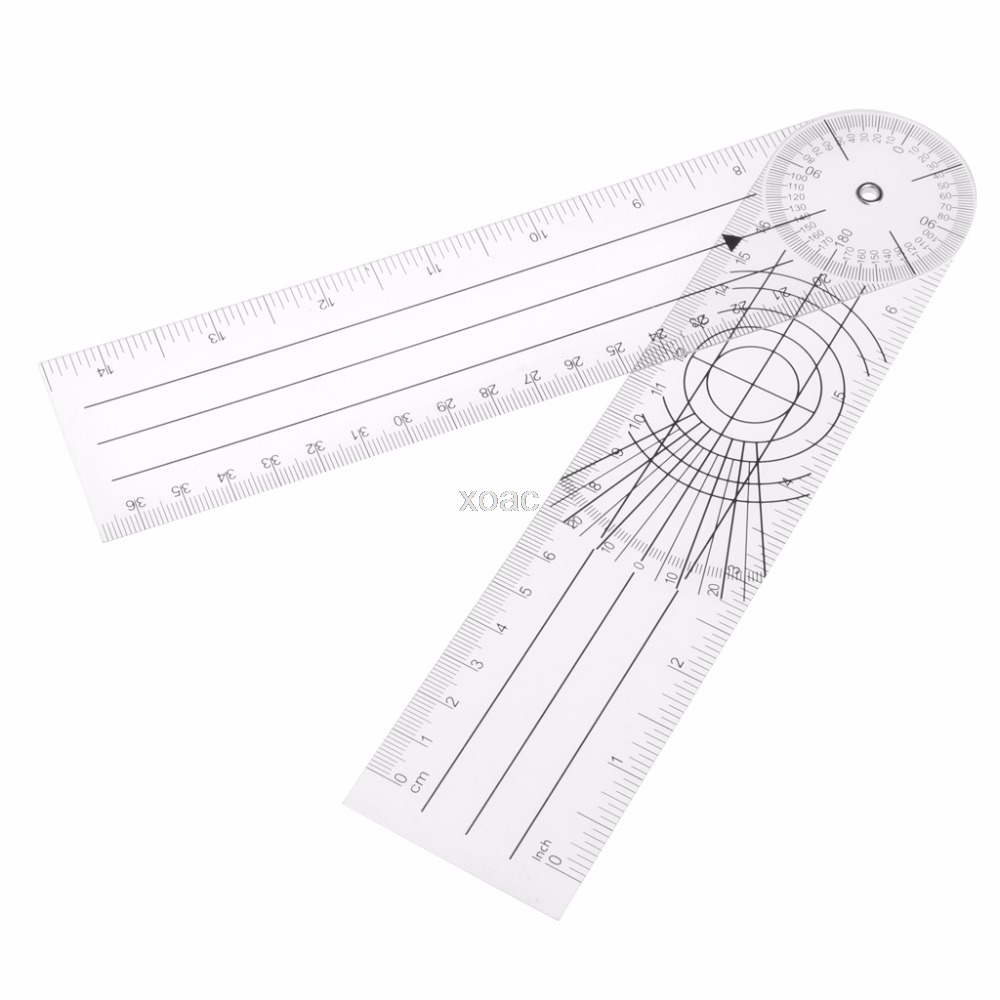Userful Multi-Ruler 360 Degree Goniometer Angle Medical Spinal Ruler CM/INCH M20 dropshipping