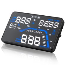 Hot sale Q7 GPS Multi-function Car HUD Vehicle-Mounted Head Up Display OBD II EOBD System Model Display free shipping