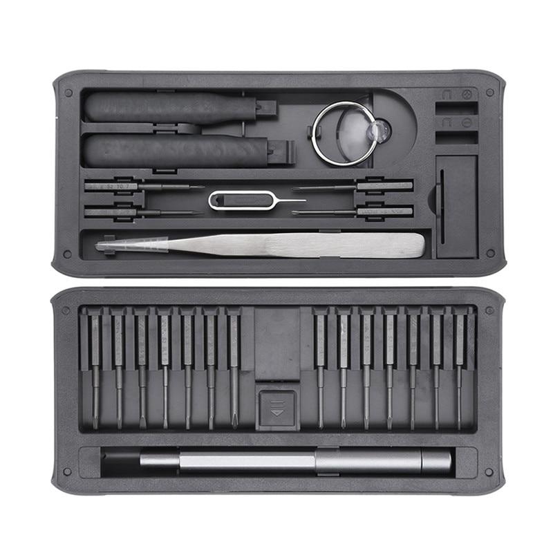 JIMI New 26 IN 1 Multi-purpose Precision Screwdrivers Kit Repair Tool DIY Screw Driver Set W/ Tweezers