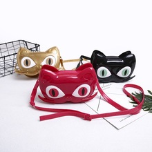Mini Melissa Brand 2019 Girls Jelly Sandals Cute Cat Children Bag Black/Red/Gold/ High Quality Bags