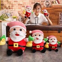 28/35/50/80 Cm Soft Santa Claus Plush Toy Christmas Doll Gift For Children