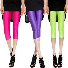 NDUCJSI Women Legging High Elastic Stretched Multiple Neon Deportes Leggins Khaki Girl Thin Casual 16 Candy Colors