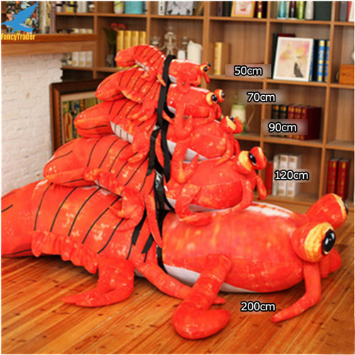 Fancytrader Jumbo Pop Anime Mantis Shrimp Plush Toy Giant Stuffed Soft Simulated Sea Animals Lobster Doll for Adult and Children (9)