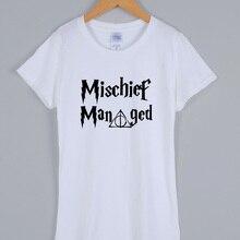 95276d7d0 MISCHIEF MANAGED T-shirts women 2019 short sleeve cotton casual female T- shirt streetwear