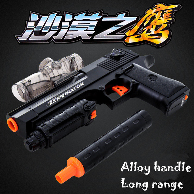 US $59 99 |Top Quality Desert Eagle Pistol Toy Shoot 8 Bullets Per Second  Electric Powered Gun CF CS Toys Crystal Water Paintball Bullet-in Toy Guns