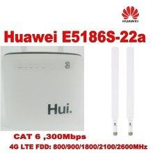 Лот из 10 штук huawei E5186 4G Cat6 802.11ac LTE CPE поддерживает до 64 устройств через WiFi+ 2 шт 4G антенна