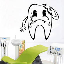 Romantic tooth Home Decor Vinyl Wall Stickers For Kids Rooms Removable Decals