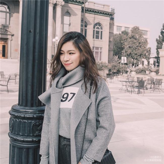 Hiver Ceinture Écharpe Pour Longue Haute Chaud 2019 Plaid De Collier Double Femmes Manteau Laine Qualité Face Vêtements Survêtement kXOuZPi