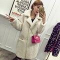 2016 женщин зимы шерсти овечки пальто