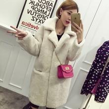 2016 winter women lamb fur coat