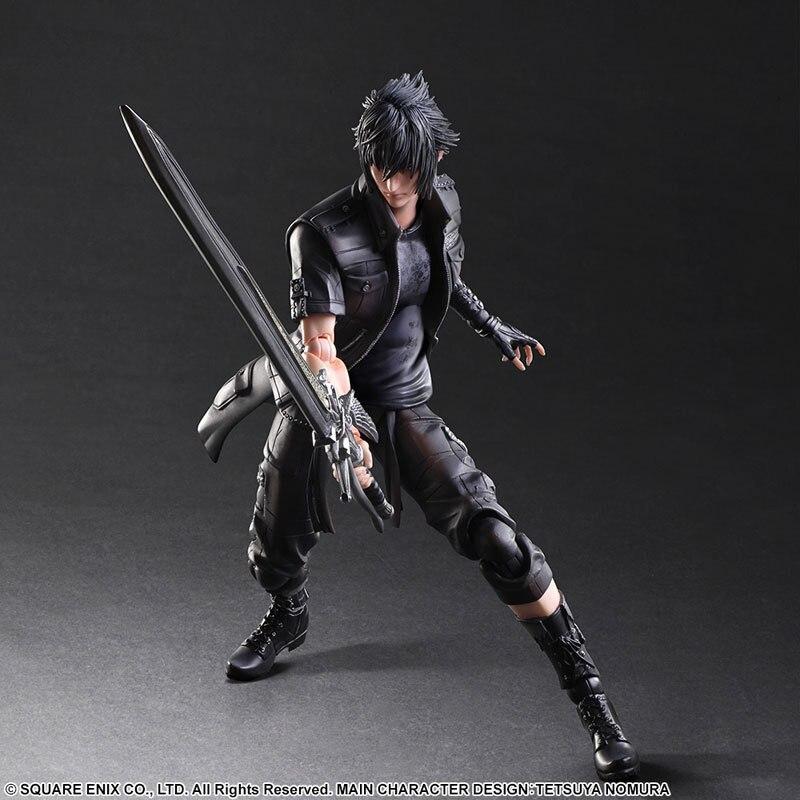 Final Fantasy Action Figure Play Arts Kai Noctis Lucis Caelum Anime Final Fantasy 15 Model Toys 270MM Playarts