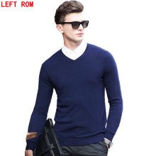 Casual Slim Fit Sweater Men Classic Pure color Pullover Men Solid Color V-Neck Pull Homme Cashmere Wool Sweaters Shirts