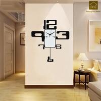 Большие прочные креативные металлические настенные часы ремесло настенные часы циркулярные домашний декор металлические современные час