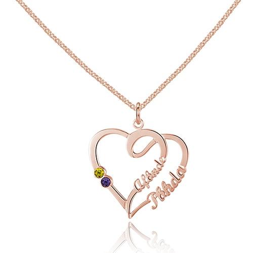 925 Sterling Silver Heart Collier Bijoux Nom personnalisé, Graver - Bijoux - Photo 4