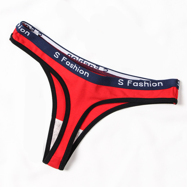 5pcs/lot briefs woman high waist thong seamless Panties women g string white Cotton sports underwear Letter sexy womens thongs 4