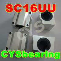 20pcs/lot 16mm shaft SC16UU SCS16UU Linear Ball Bearing Pillow Bolck Linear unit for CNC