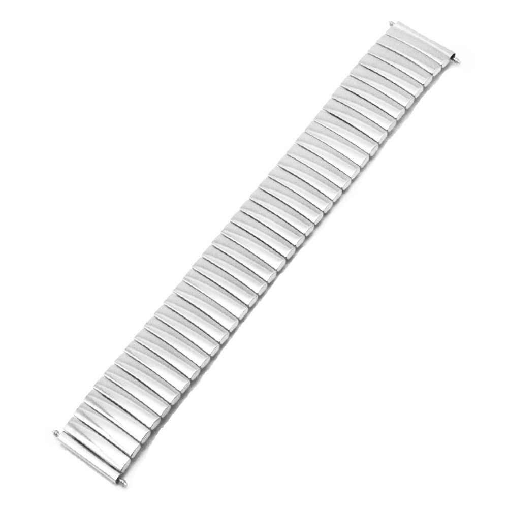 ステンレス鋼時計バンド 16 ミリメートル 18 ミリメートル 20 ミリメートル 22 ミリメートル 24 ミリメートルのため男性女性弾性ストラップループ手首拡張ベルトブレスレット