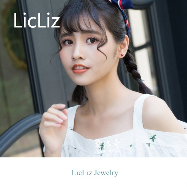 LicLiz 2019 New 925 Sterling Silver Pomegranate Stone Stud Earrings for Women Small Ball Studs Earings Simple Silver Bar LE0498-in Earrings from Jewelry & Accessories on Aliexpress.com | Alibaba Group