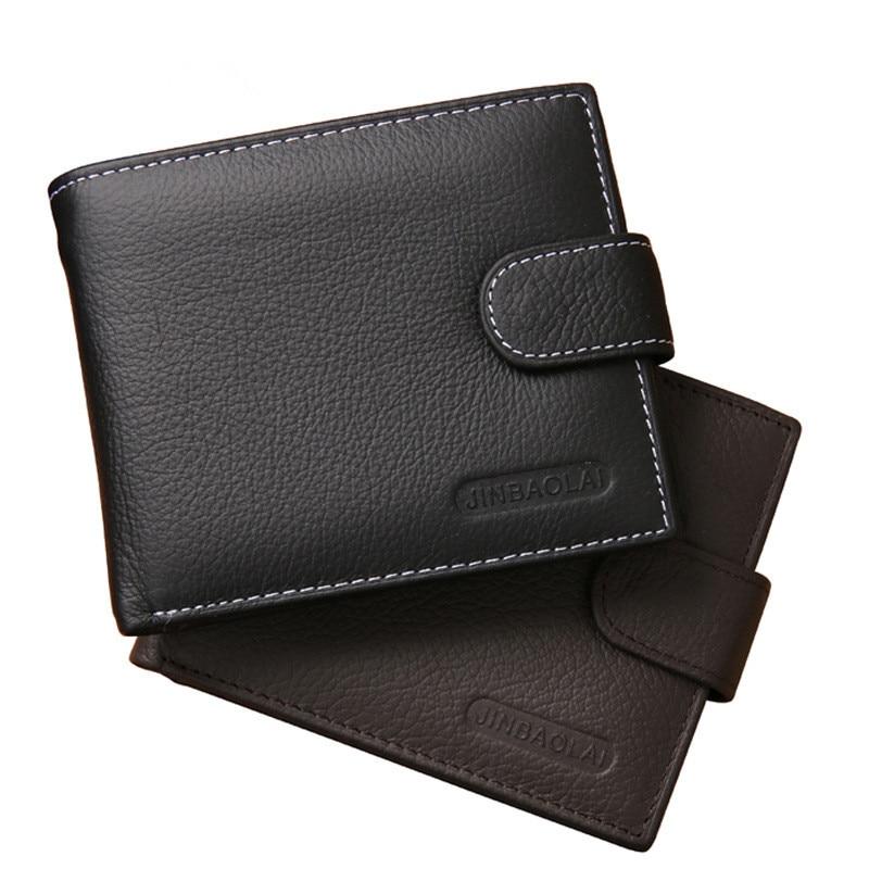 100% Genuine Leather Wallet Men Short Wallet Bifold Purse Card Holder Coin Pocket Male Brand Casual Wallets Masculinas стоимость