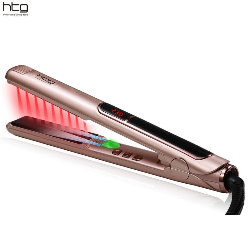 HTG Professional Hair iron with lONIC Generator Infrared Hair Straightener Straightening iron ceramic iron Hair lcd