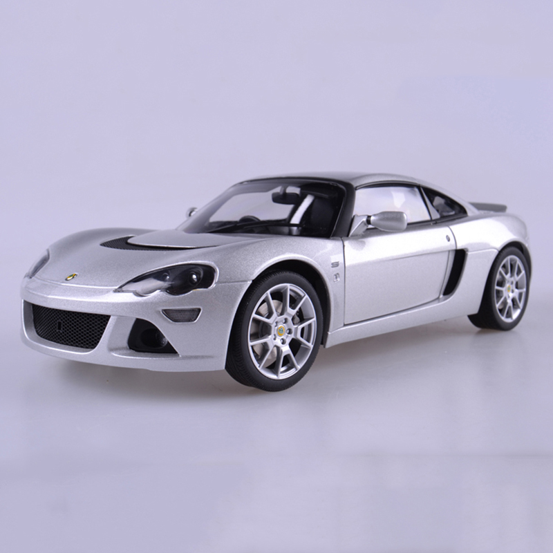 Diecast Model Car 1/18 Lotus Europa S Car Model Silver Color Collections Gifts  Displays Model Toys 1 18 original lp770 4 car model alloy metal diecast children toys gifts collections red and black