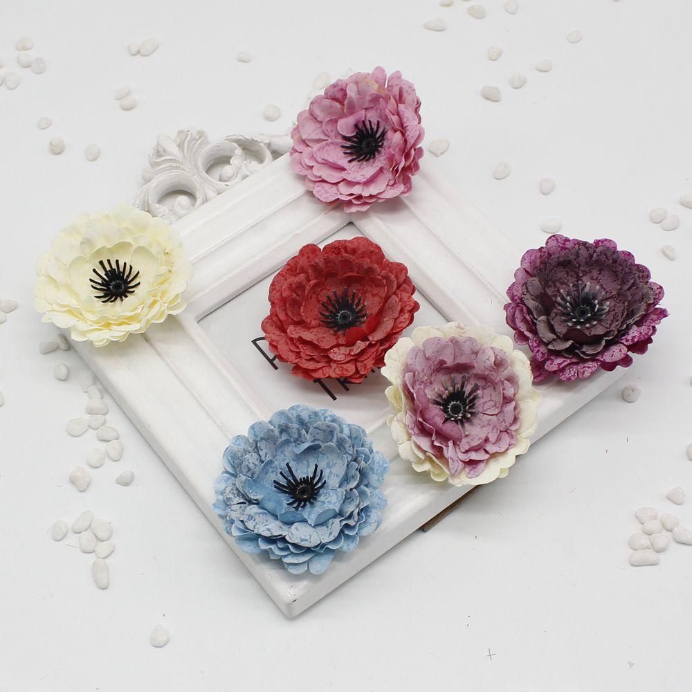 2pcslot Fake Artificial Silk Peony Handmade Diy Wedding