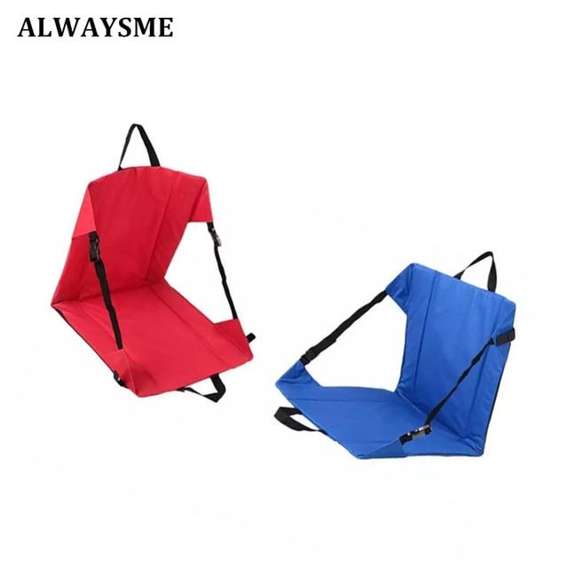 ALWAYSME Portable Foldable Outdoor Picnic Camping Beach Chair Garden Sofa  Chair Garden Chair Seats Soft Stadium