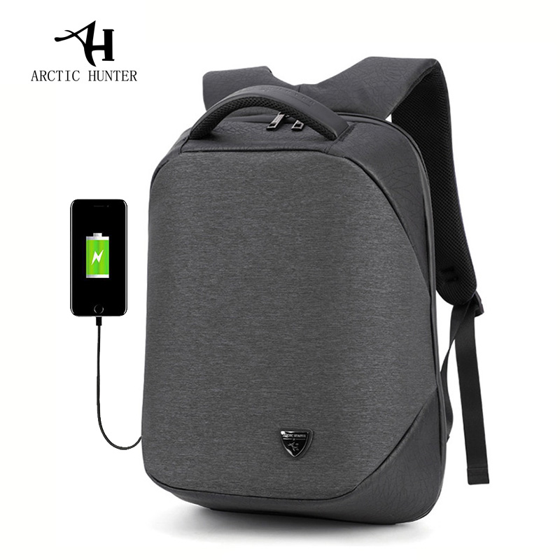 Arctic Hunter School Backpack 15.6inch Laptop Backpacks Men Waterproof Mochila Casual Business Male Bag Travel Backpack Rucksack
