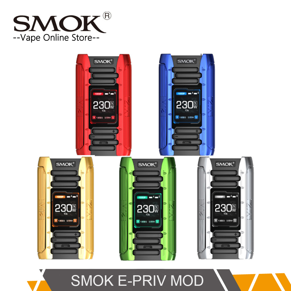 D'origine SMOK E-priv mod 230 W E-priv Boîte MOD vapoteuse Firmware Extensible pour Tfv12 Prince Vs smok X-priv & G-priv 2 kit
