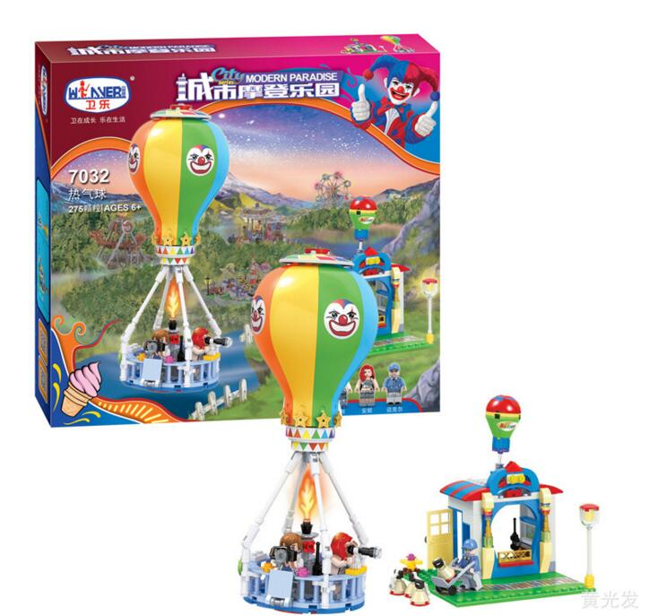 new 7032 Friends series the City Park Cafe hot balloon Model Building Block Classic girl toys Compatible with lepin lepin 22001 pirate ship imperial warships model building block briks toys gift 1717pcs compatible legoed 10210