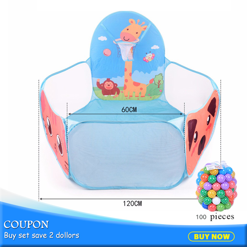 Free Shipping Foldable Kids Ocean Ball Pools Play Tent Outdoor For Children Gift Piscina De Bolinha House Play Hut Pool