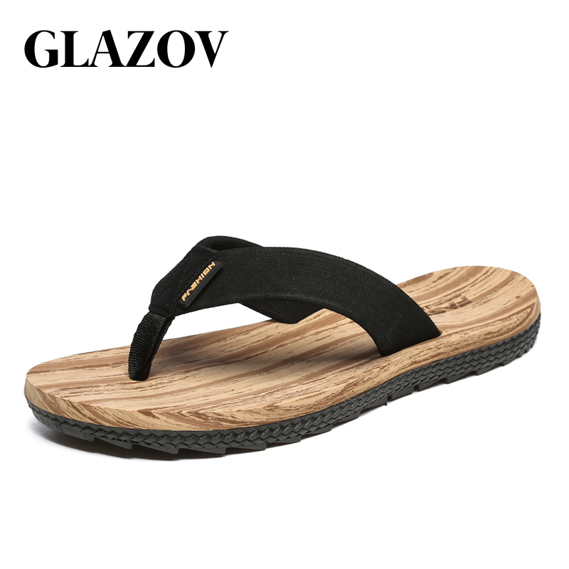 GLAZOV Brand Summer Men Flip Flops Male Mixed Color Slippers Men Casual PVC EVA Shoes Summer Fashion Beach Sandals Size 39~45