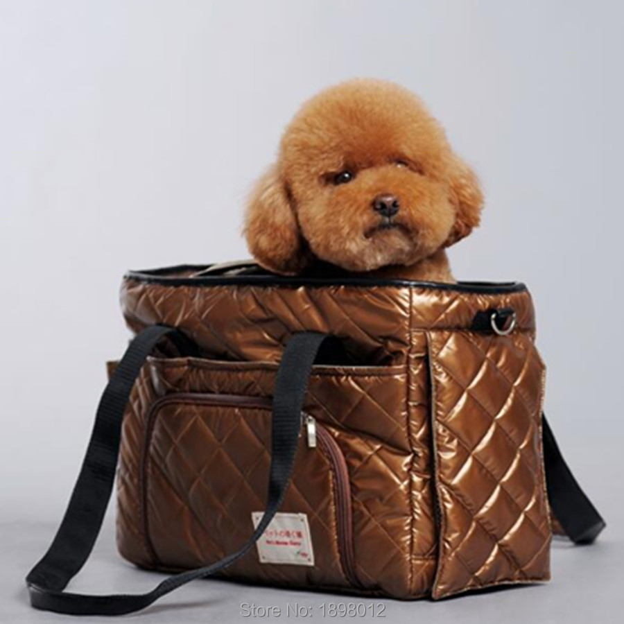 Portable Pet Carrier Bag For Carrying Dog Cat Small Animals Travel Carry Hand Bag Nylon Dog Slings Pink Orange Brown #2