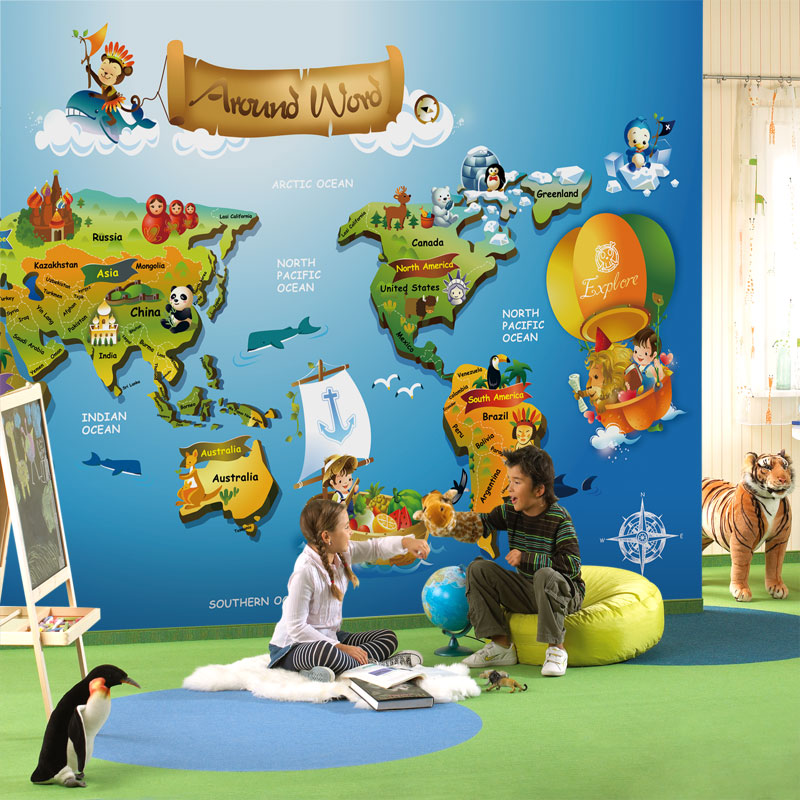 Fashion world map pattern wallpaper for childrens bedroom cartoon fashion world map pattern wallpaper for childrens bedroom cartoon map mural children wallpaper in wallpapers from home improvement on aliexpress gumiabroncs Images