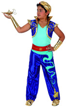 - 2014 New Style Carnival Cosplay Costume Party Clothing kid Aladdin costumes with shirt, trousers and vest, hat Blue