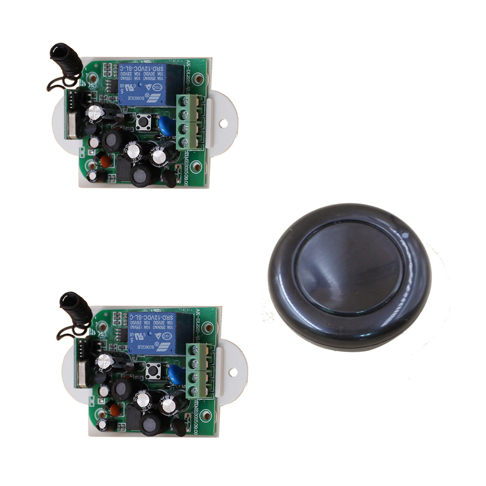 AC 85V 110V 120V 220V 250V Wireless Remote Control Switch with Manual Button 2 Receiver +1 Transmitter for Smart Home 315/433mhz new design wireless ac220v remote control switch with manual button receiver for smart home 315 433mhz free shipping