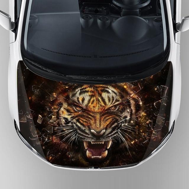 hot popular car accessories 2017 custom tiger head graphic car ...