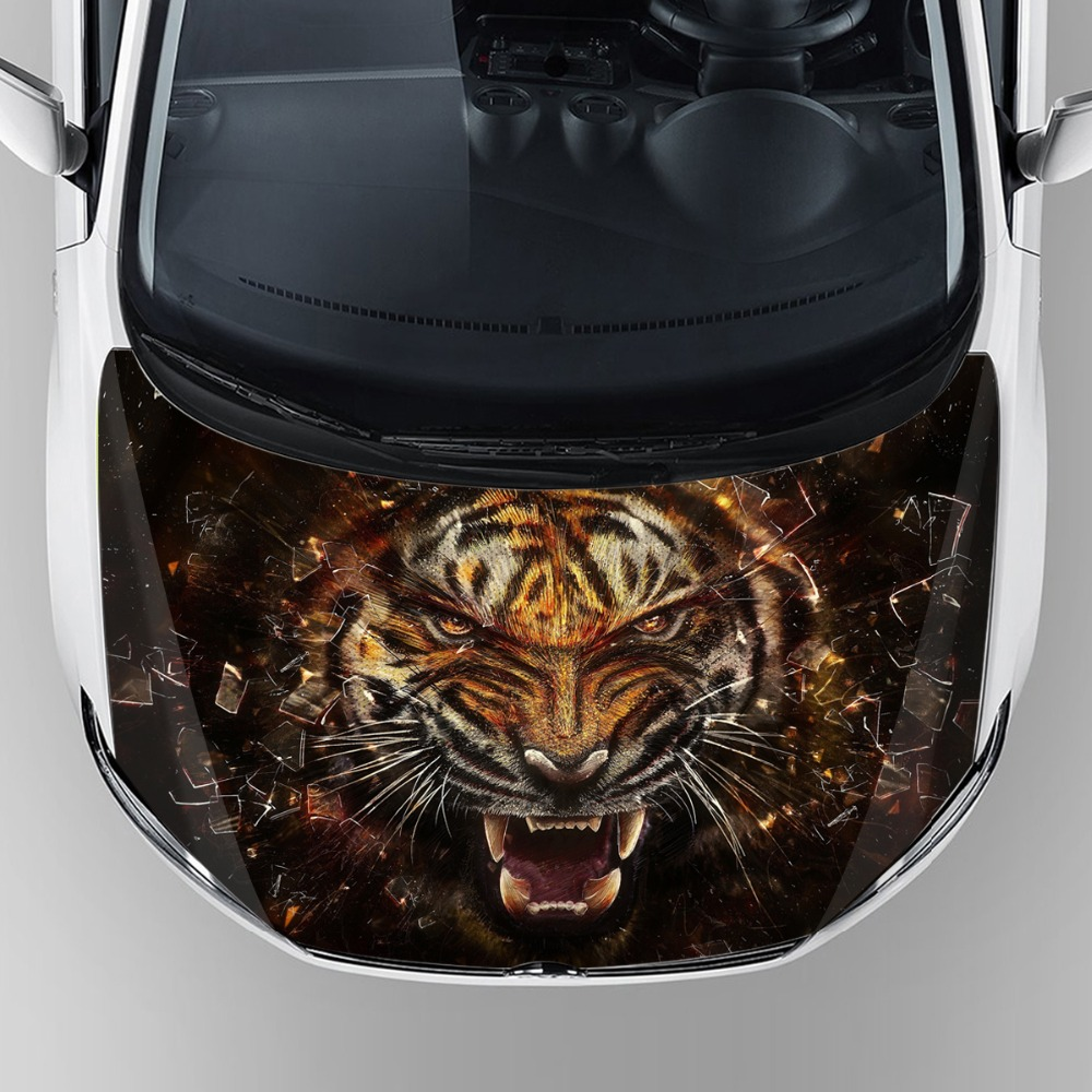 Car sticker custom malaysia - Hot Popular Car Accessories 2017 Custom Tiger Head Graphic Car Body Decal Sticker Self Adhesive Hood