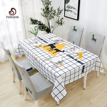 Parkshin Moderne Cartoon Deer Tischdecke Home Küche Rechteck Dekorative Tischdecken Partei Bankett Esstisch Abdeckung 4 Größe