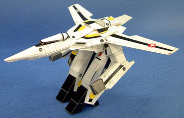 Aircraft Robotech Skeleton No. 1th Fighter 3D Paper Model DIY Toy