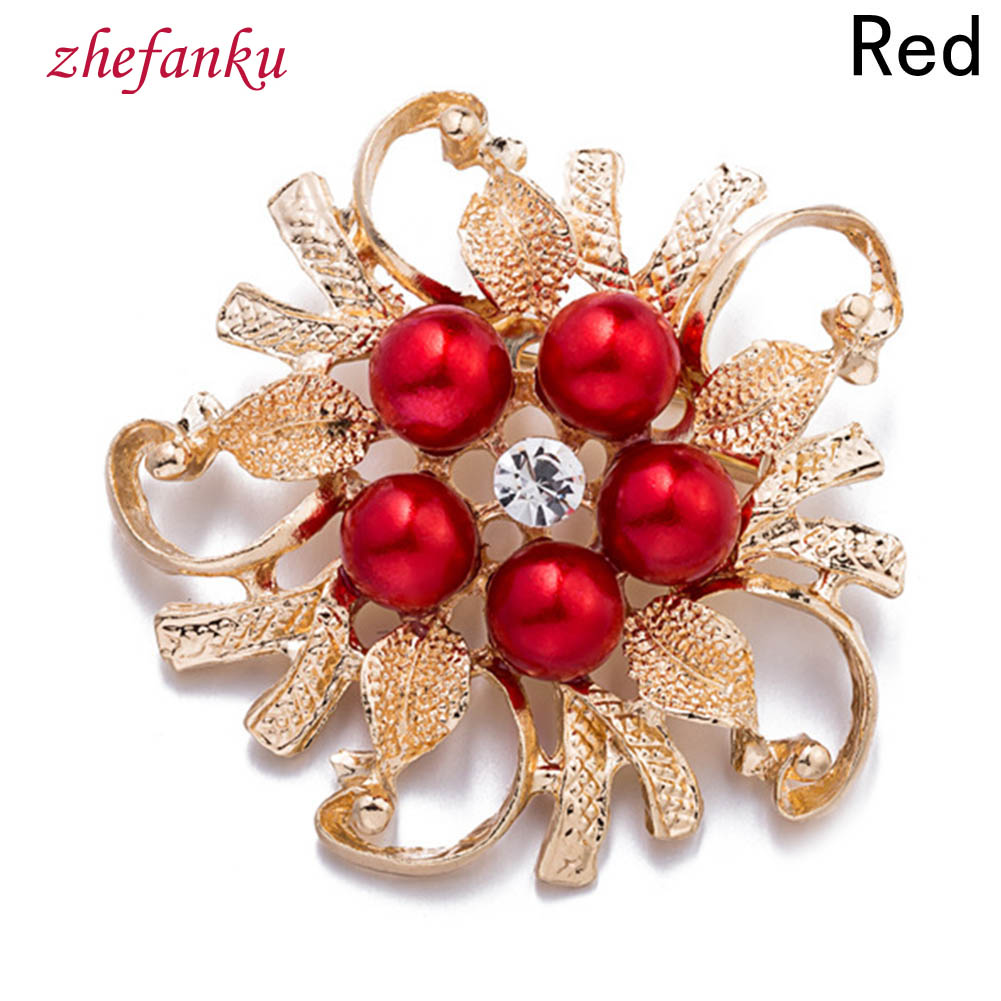 HOT Sale Brooches Collar Flower Leaf Broches Pins For Women Vintage Imitation Pearl Brooch Female Jewelry Collar Free Shipping