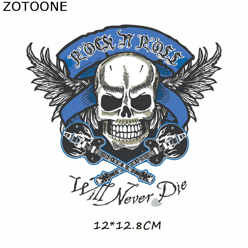 ZOTOONE Motorcycle Punk Bike Patch Iron on Transfer Patch for Clothing T Shirt Beaded Applique Clothes DIY Accessory Decoration in Patches from Home Garden