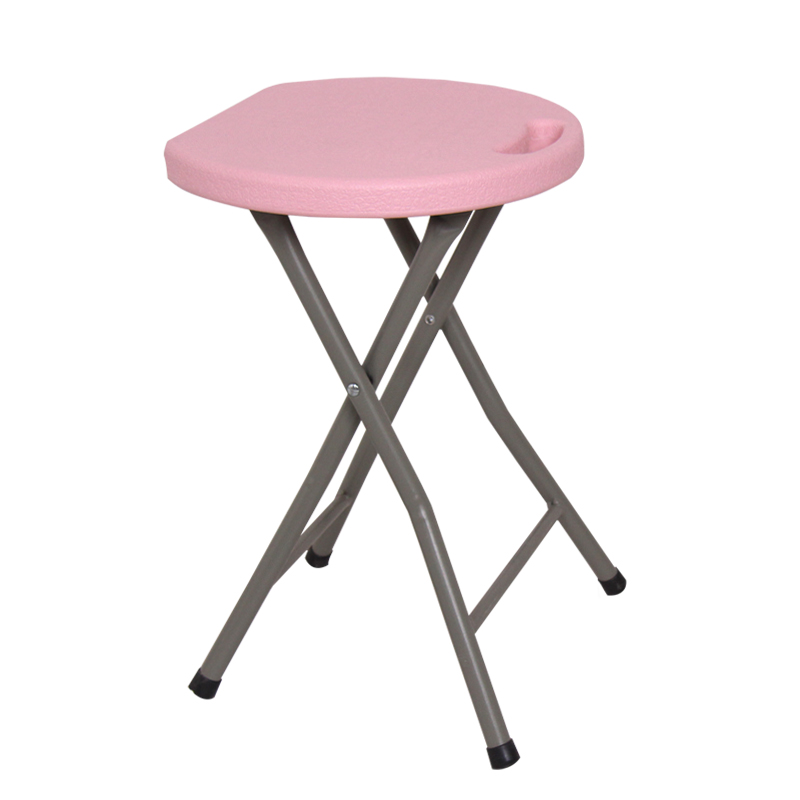 Adult high stool portable plastic stool home small round Thickened  durable folding portable outdoor camping stool chair